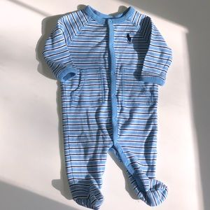 Ralph Lauren footed onesie!